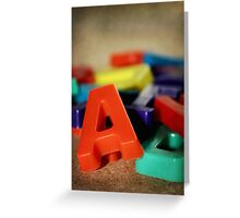 Alphabet Fun Greeting Card