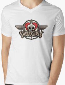 SkullGirls Logo Mens V-Neck T-Shirt
