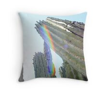 Desert Rainbows Throw Pillow