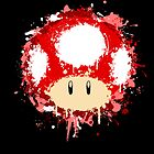 Splash Paint Super Mario Mushroom by scribbleworx