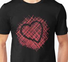 Cross-hatched heart Unisex T-Shirt
