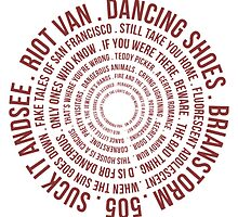 Wheel of Arctic Monkeys songs by BenWilliamson