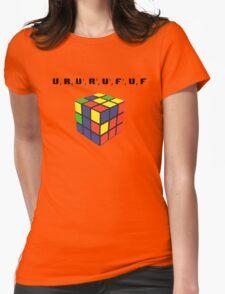 Rubik's Cube Algorithm Womens Fitted T-Shirt