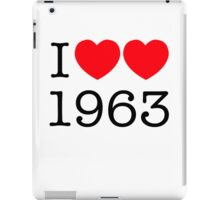 I heart 1963 iPad Case/Skin