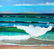 Waves at the beach by kreativekate