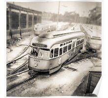 Vintage Streetcar Trolley 1087 Poster