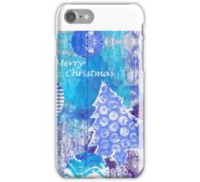 Xmas Card Design 105 in Blue iPhone Case/Skin