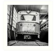 Vintage Streetcar Trolley 1219 Art Print