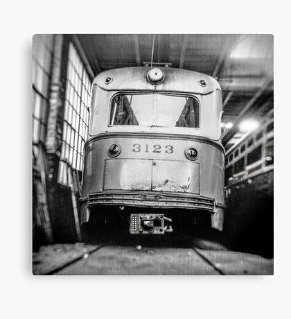 Vintage Streetcar Trolley 1219 Canvas Print