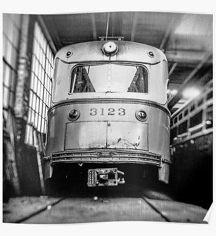 Vintage Streetcar Trolley 1219 Poster