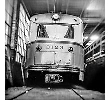 Vintage Streetcar Trolley 1219 Photographic Print