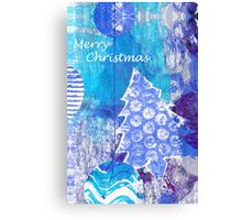 Xmas Card Design 105 in Blue Canvas Print