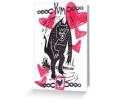 Krampus Valentine Hearts Are Yummy Greeting Card