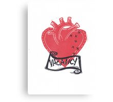 Vacancy, Room for Love in this Heart Canvas Print