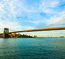 Brooklyn Bridge In  New York City by thegaffphoto