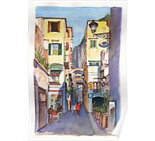 Street in Amalfi Italy Poster