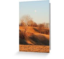 Cross under Sycamore Tree with the Moon Greeting Card