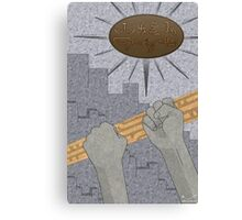 All Barriers Crumble and Fall Canvas Print