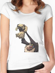 Pug King Women's Fitted Scoop T-Shirt