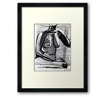 chest and charcoal Framed Print