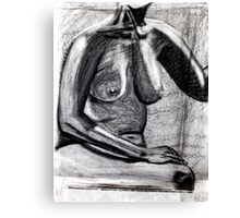chest and charcoal Canvas Print