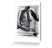 chest and charcoal Greeting Card