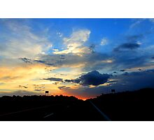 sunsets in New Mexico Photographic Print