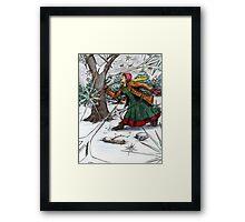 Snowflake Girl Framed Print