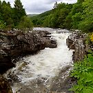 Invermoriston Falls, Scottish Highlands by triciamary