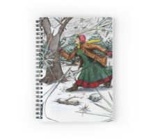 Snowflake Girl Spiral Notebook
