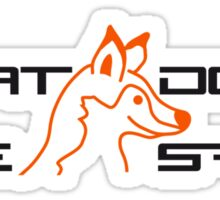 What Does The Fox Say Logo Sticker