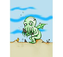 Cthulhu At Play Photographic Print