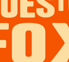 What Does The Fox Say Sticker