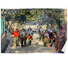 Swayambunath Morning III Poster
