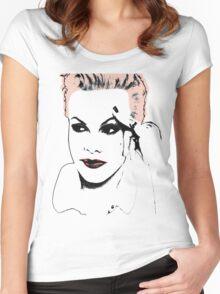 P!nk Digital Art Women's Fitted Scoop T-Shirt