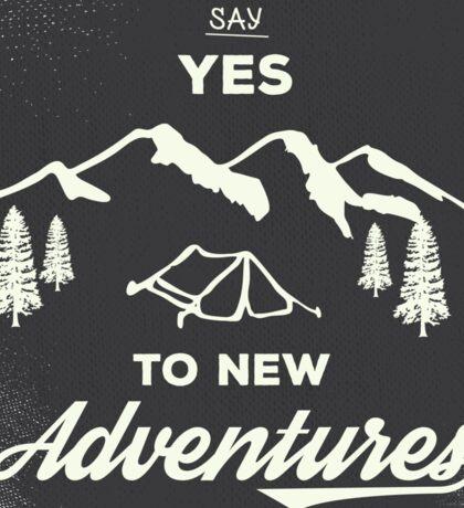 New Adventures Sticker