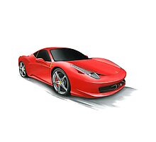 Ferrari 458 Photographic Print