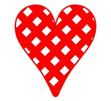 Red Crosshatch Heart by kwg2200