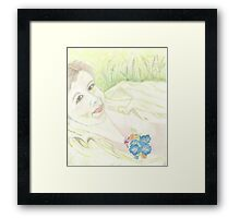 PORTRAIT ON A WILDFLOWER DAY Framed Print