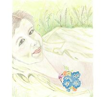 PORTRAIT ON A WILDFLOWER DAY Photographic Print