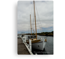 Moored Boats Canvas Print