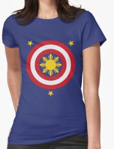 Captain Philippines! (For Blue Shirts Only) Womens Fitted T-Shirt