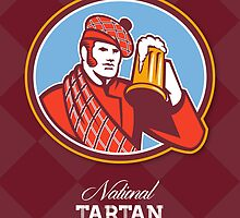 National Tartan Day Beer Drinker Greeting Card by patrimonio