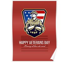 American Soldier Veterans Day Greeting Card Poster