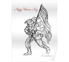 American Veterans Day Remembrance Greeting Card Poster