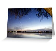 Sunset Star Trail Greeting Card