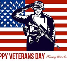 US Veterans Day Remembrance Greeting Card by patrimonio