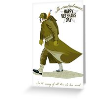 World War Two Veterans Day Greeting Card Greeting Card