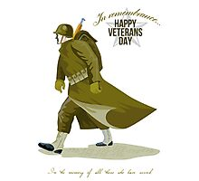 World War Two Veterans Day Greeting Card Photographic Print