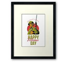 Veterans Day Greeting Card American WWII Soldier Framed Print